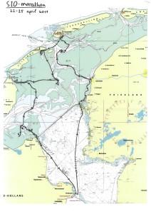 Overzichtskaart Zachtebedrace 2011